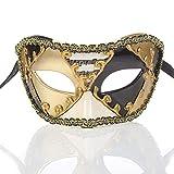 Máscara de Fiesta Máscara de notas musicales Mascarada de Halloween Vintage clásico Media cara Corona Decoración Máscara Festival Cosplay Máscara de plástico Accesorio de Disfraces de Fiesta
