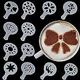 Bluelover 12 Pz Muffa Di Plastica Latte Cappuccino Caffè Caffè Cappuccino Arte Strumento Di Decorazione Stencil