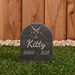 Pet Gravestone personalised with name and motif personalised 7