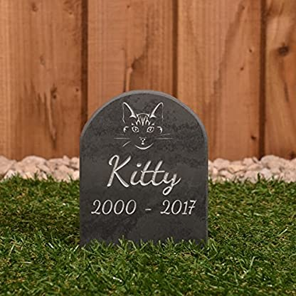 Pet Gravestone personalised with name and motif personalised 1