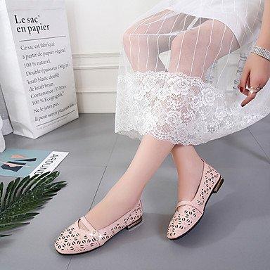 RTRY Donna Sandali Suole Di Luce Pu Estate Abbigliamento Casual Hollow-Out Tacco Piatto Arrossendo Rosa Beige Bianco Nero Sotto 1In US6 / EU36 / UK4 / CN36