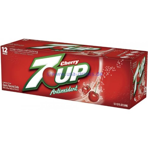 7 Up Cherry 12 oz. (355 mL) - 12 Pack - 7 Top-up