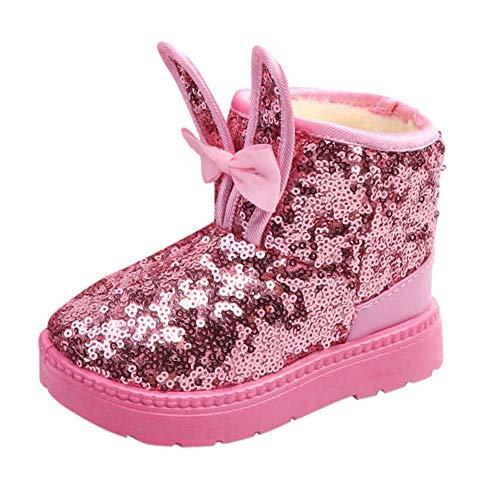 (MCYs Kinder Baby Mädchen schönen Herbst Winter Kaninchen Ohr Blings Pailletten Schnee Stiefel Warme Schuhe Schneeschuhe weiche Krippe Schuhkleinkind Stiefel)