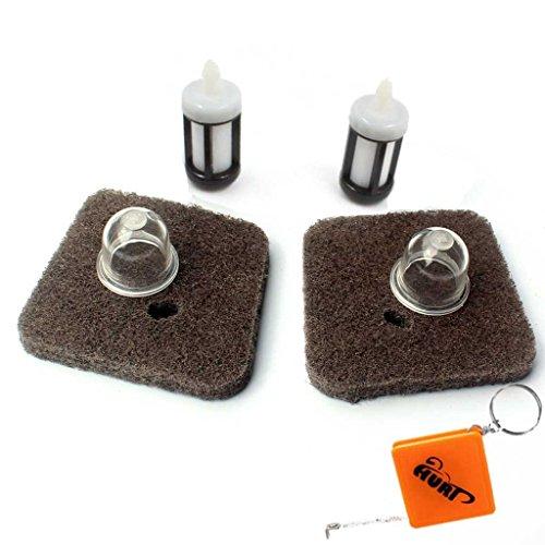 Preisvergleich Produktbild HURI (Pack of 2) Luftfilter Benzinfilter Primer Pumpe for STIHL FC55 FS38 FS45 FS46 FS55 HS45 KM55 HL45 Rasentrimmer