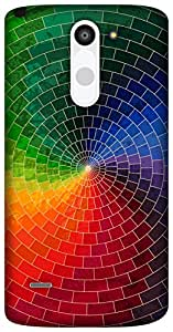 The Racoon colour bricks hard plastic printed back Case for LG G3 Stylus