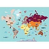 Set De Table Enfant : Carte Monde Animaux