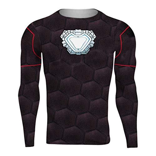 sion Shirt Für Herren Sport Und Fitness 3D Superheld T-Shirt Kurzarm Fitness Crossfit T-Shirts,OneColor-XXL ()