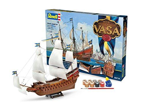 Revell Modellbausatz Schiff 1:150 - Geschenkset Royal Swedish Warship VASA im Maßstab 1:150, Level 5, originalgetreue Nachbildung mit vielen Details, Segelschiff, 05719