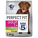 PERFECT FIT Adulte Croquettes pour Chien (>10kg) au Poulet 2,6 kg
