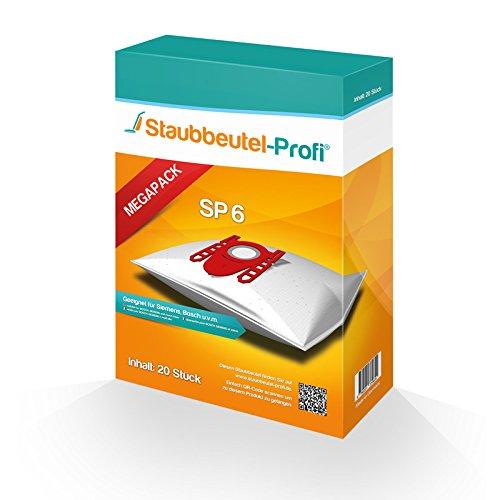 20 Staubsaugerbeutel geeignet für Siemens VS06B2410 , VS06B112A von Staubbeutel-Profi®