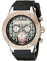 MULCO Men's MW5-2331-023 Couture Analog Display Swiss Quartz Black Watch