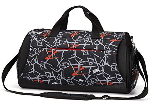 pxyuan, fitness - tasche, sporttasche, basketball - m ä nner reisetasche, einheitlichen schulter ausbildung tasche, reisetasche, sterben tragbare tasche, flut yoga - tasche Geometric black
