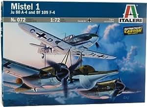 Italeri - I072 - Maquette - Aviation - Mistel 1 Ju88 + Bf109f