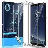 LK [3 Stück] Schutzfolie für Samsung Galaxy S8, [Kompatibel mit Hülle] [Blasenfreie] Klar HD Weich TPU Folie [Volle Abdeckung] [Lebenslange Ersatzgarantie]