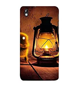 VINTAGE LANTERN WITH AN ANIMATED BIRD 3D Hard Polycarbonate Designer Back Case Cover for HTC Desire 816::HTC Desire 816 G
