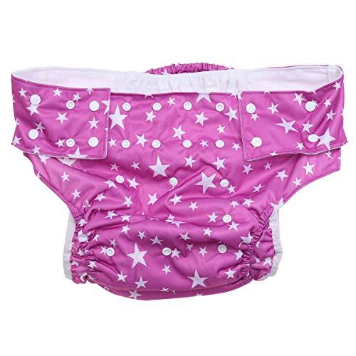 HEALIFTY Windeln für Erwachsene für Inkontinenzpflege Inkontinenzhose mit Doppelöffnung Waschbare wiederverwendbare, leckagefreie Unterwäsche