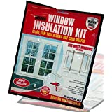 WINDOW SHIELD HOME HEATING DRAFT INSULATION KIT EXCLUDER DOUBLE GLAZING FILM NEW