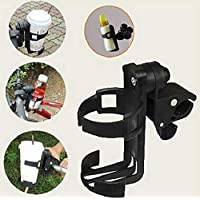 Cycling Bike Bicycle Baby Stroller Drink Water Milk Bottle Cup Holder Mount Cage,Black