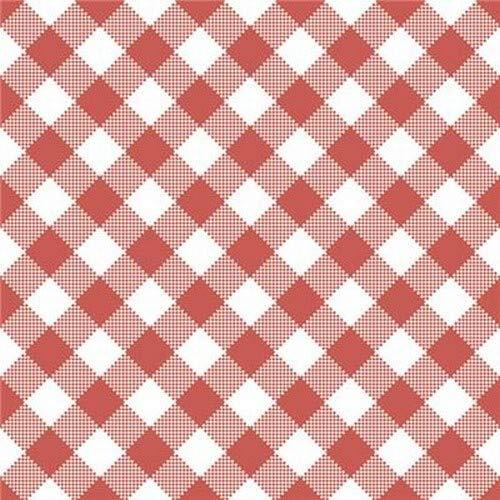 20 Servietten Diagonal kariert rot-weiß als Tischdeko für alle Anlässe und zum Basteln 33x33cm (Kariertes Papier Servietten)