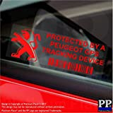 5x pppeugeotgpsred GPS rot Tracking Gerät Sicherheit Fenster Aufkleber 87x 30mm-car, Van Alarm Tracker