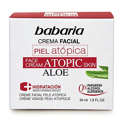 Babaria Aloe Vera Piel Atopica Crema Facial 0% 50Ml