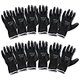 Incutex 12 pares guantes de trabajo guantes de montaje guantes mecánico guantes de...