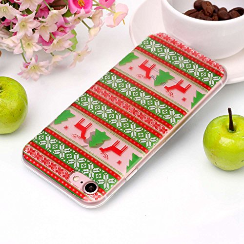 Cover iPhone 7 iPhone 8, Sportfun morbido protettiva TPU Custodia Case in silicone per iPhone 7 iPhone 8 Natale (04) 05