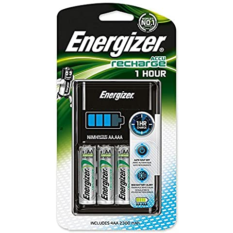 Energizer 1 Hour Charger for AA + AAA Batteries