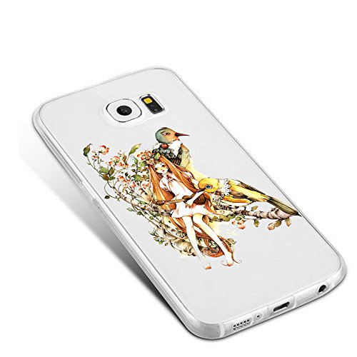 Qissy® Cover Samsung Galaxy S7 Custodia Bumper Morbida Crystal Clear TPU Silicone disegno pittura 3D 05