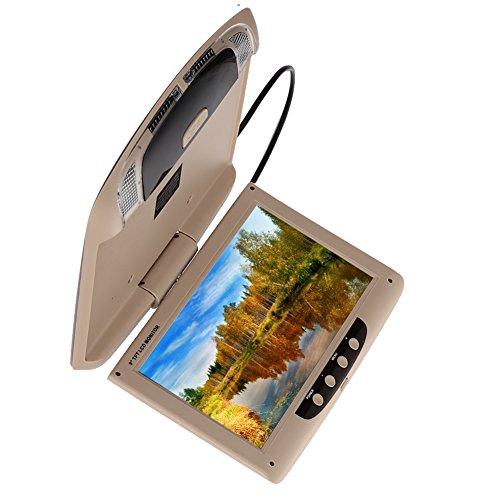 Sedeta 9 Zoll 800 * 480 Auto Monitor Dach Mount LCD Farbmonitor Bildschirm Overhead Multimedia Video onitor herunterklappen Decke Dachhalterung Display (Auto Dach)