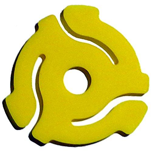 (10Pack) Zehn gelb 45rpm 17,8cm Vinyl Record Adapter-17,8cm Kunststoffeinsatz -