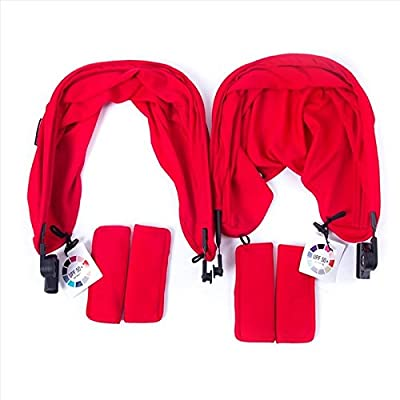 Baby Monsters Pack Tejidos para Easy Twin color Rojo