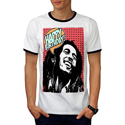 Bob Marlety Pot Geburtstag Bob Marley Herren S Ringer T-shirt   (Halloween Marley Bob Kostüme)