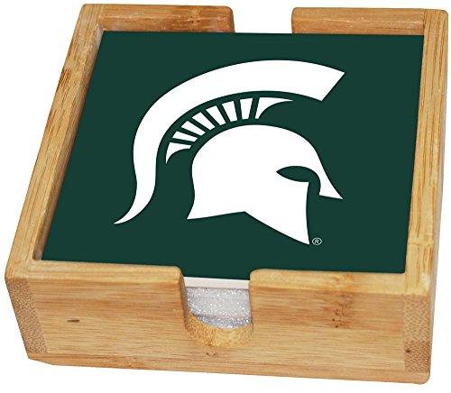 State University Square (Memory Company NCAA Michigan State University col-msu-2403square Untersetzer-Set, Mehrfarbig, one Size)