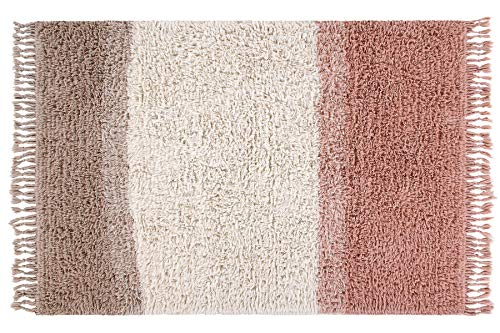 Lorena Canals - Woolable - Alfombra Lavable Sounds of Summer Rosa Palido, Natural, Champagne - Pelo...