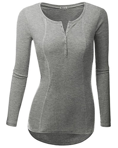 YouPue Femmes Pullover Tricot Manche Longue T-shirt V Col Pull-over Sweatshirt Pullovers Tops Blouse Casual S M L XL Gris
