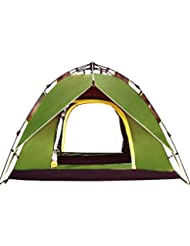 ysayc 3 – 4 personas Camping tents Outdoor Rainproof doble tents, verde