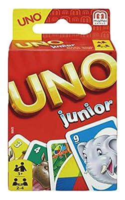 UNO Junior Jeu de Société et de Cartes avec dessins d'animaux, pour enfants dès 3 ans, 52456