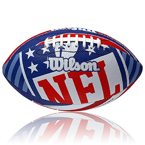 WILSON Football NFL Logo, Royal/Weiss, Junior, WL0206203140