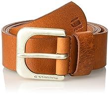 G-STAR RAW Men's Zed Belt, Brown (Dark Cognac/Antic Silver), 110