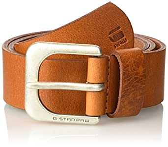 G-STAR RAW Zed Belt, Ceinture Homme, Marron (Dk Cognac/Antic Silver 8128), 75