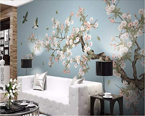 Wandbilder Tapete Begonia Flowers Handgemalte Blumen Vogel Hintergrund Wand Tapete Tapete Schönheit-280X200Cm,Wandbild - Begonia-arten