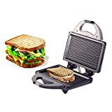 Lifelong LLSM116G 750-Watt 4-Slice, Non Stick Grill Sandwich Maker (Black)