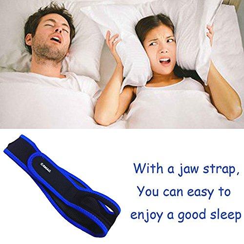 CAMAC Hot Anti Snoring Chin Strap Anti Snore Belt Anti Snoring Jaw Support Anti Apnea,Long Test