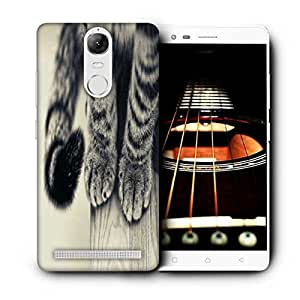 Snoogg Black And White Cat Paws Printed Protective Phone Back Case Cover For Lenovo K5 Note