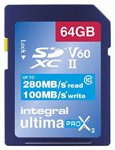 Integral–Tarjeta de vídeo velocidad V6064GB 280/100MB/s UHS-II X2tarjeta de memoria SDXC 64 GB