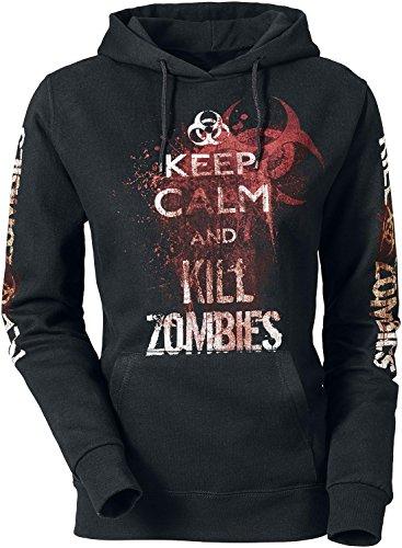 Keep Calm And Kill Zombies Felpa donna nero XXL