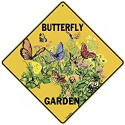 Crosswalks Butterfly Garden 30,5 x 30,5 cm en aluminium Sign