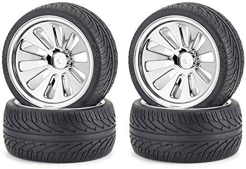 Carson 500105200 - 1:10 Reifen/Felgen Set Buggy On-Road, 4 Stück