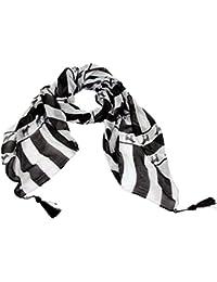 Accessoire Pour FemmesCalonice Amorino Écharpe tube zébrée motiféquestrenoir et blanc Écharpe élégante châle Taille unique 180x0.1x110 cm (LxHxW) 29200